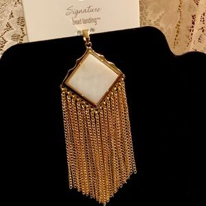 Pendant for necklace shell gold chain fringe NEW